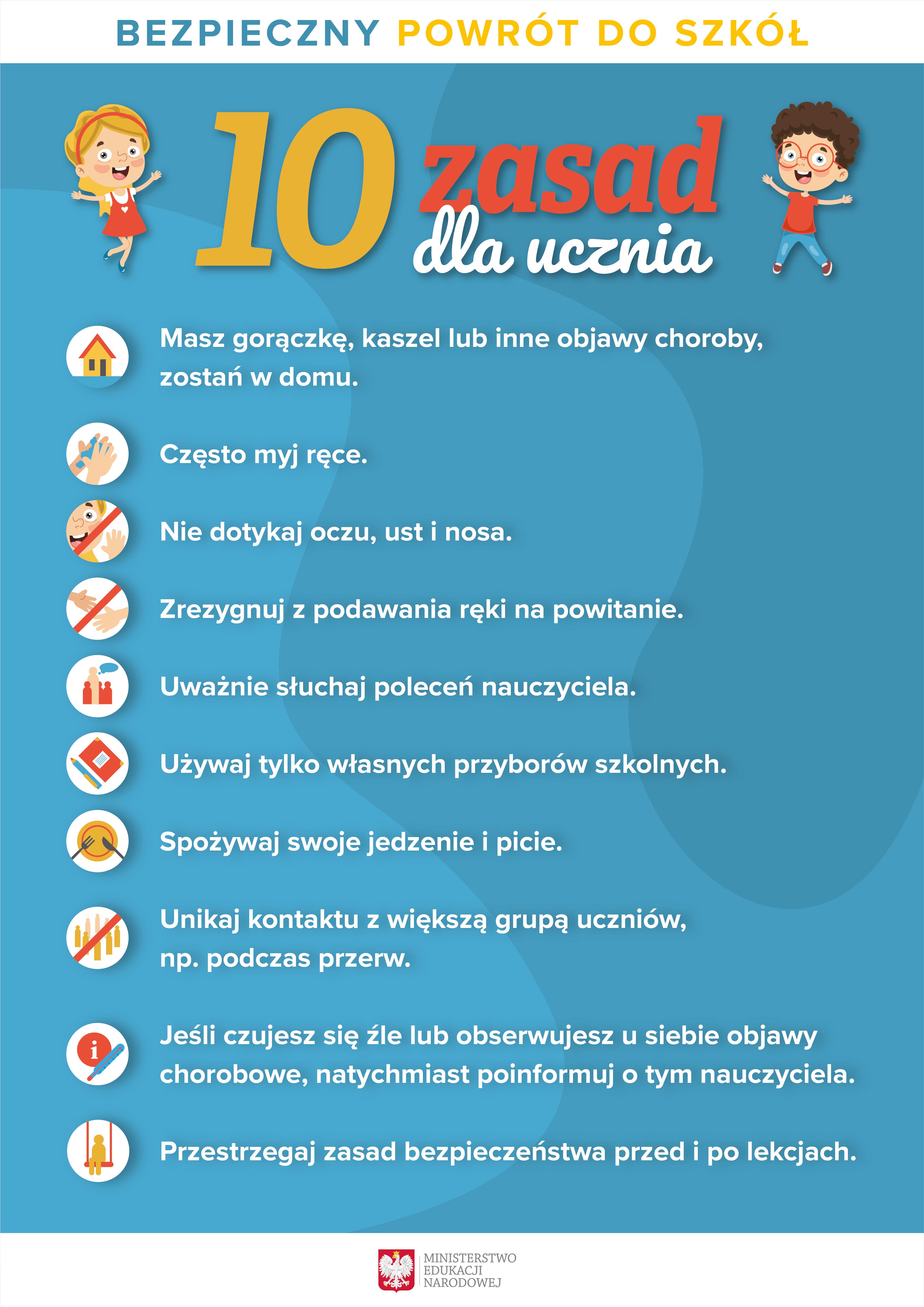 10 zasad dla ucznia